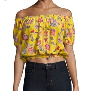 NWT- Joie off the shoulder floral blouse